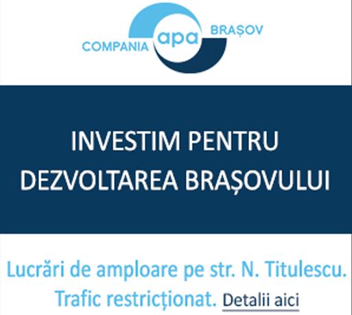Compania Apa Brașov - Investim pentru dezvoltarea Brașovului
